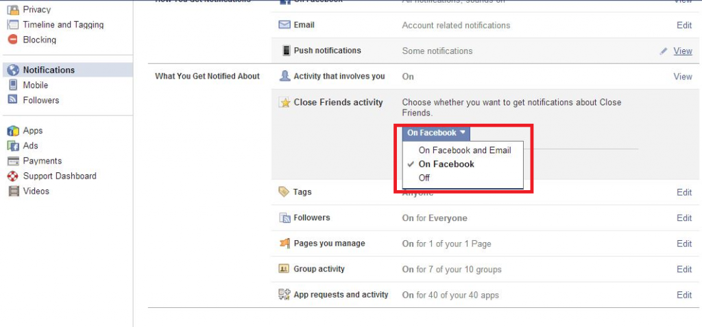 notifications from facebook4