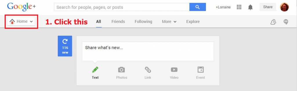 notifications from google finding the settings