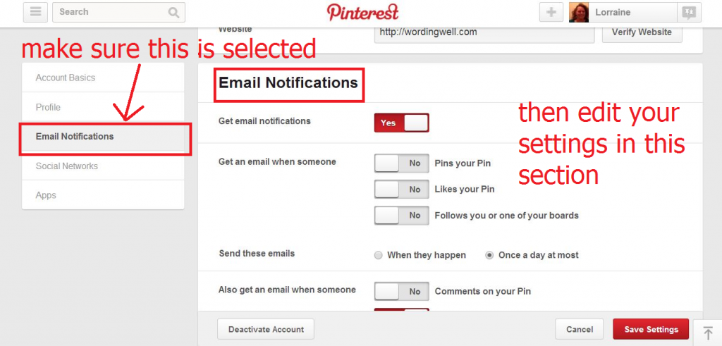 notifications from pinterest2