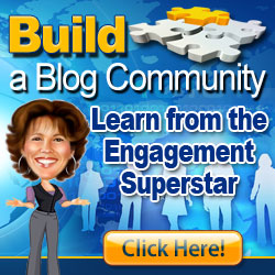 This is an image that shows Adrienne Smith's ecourse, Build a Blog Community.