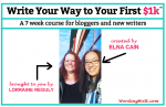 Lorraine and Elna in an image created for the post on Wording Well titled Write Your Way to Your First 1K