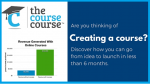 The Course Course image and logo with bar graph of sales