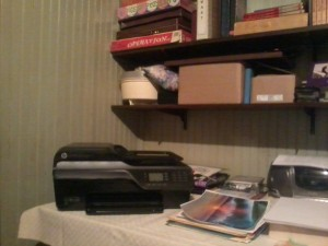 This is my new printer, which I purchased after I re-united with my son.