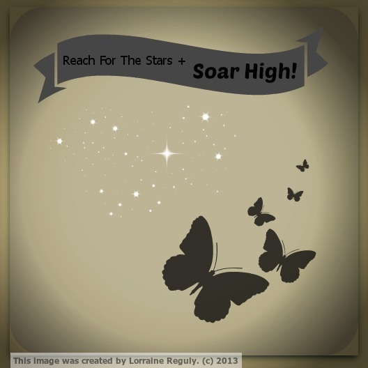 motivational butterflies and stars watermarked