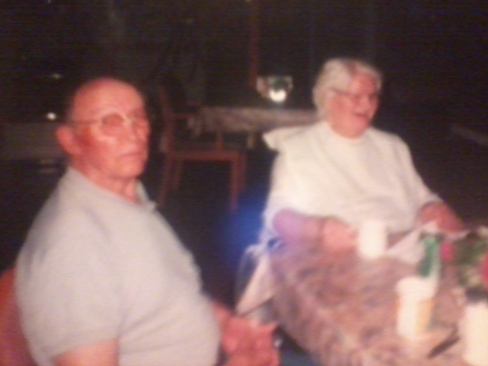 This is a picture of my Grandpa and Grandma Stewart after Grandma Helen moved into Pinewood Court, an old folks home.
