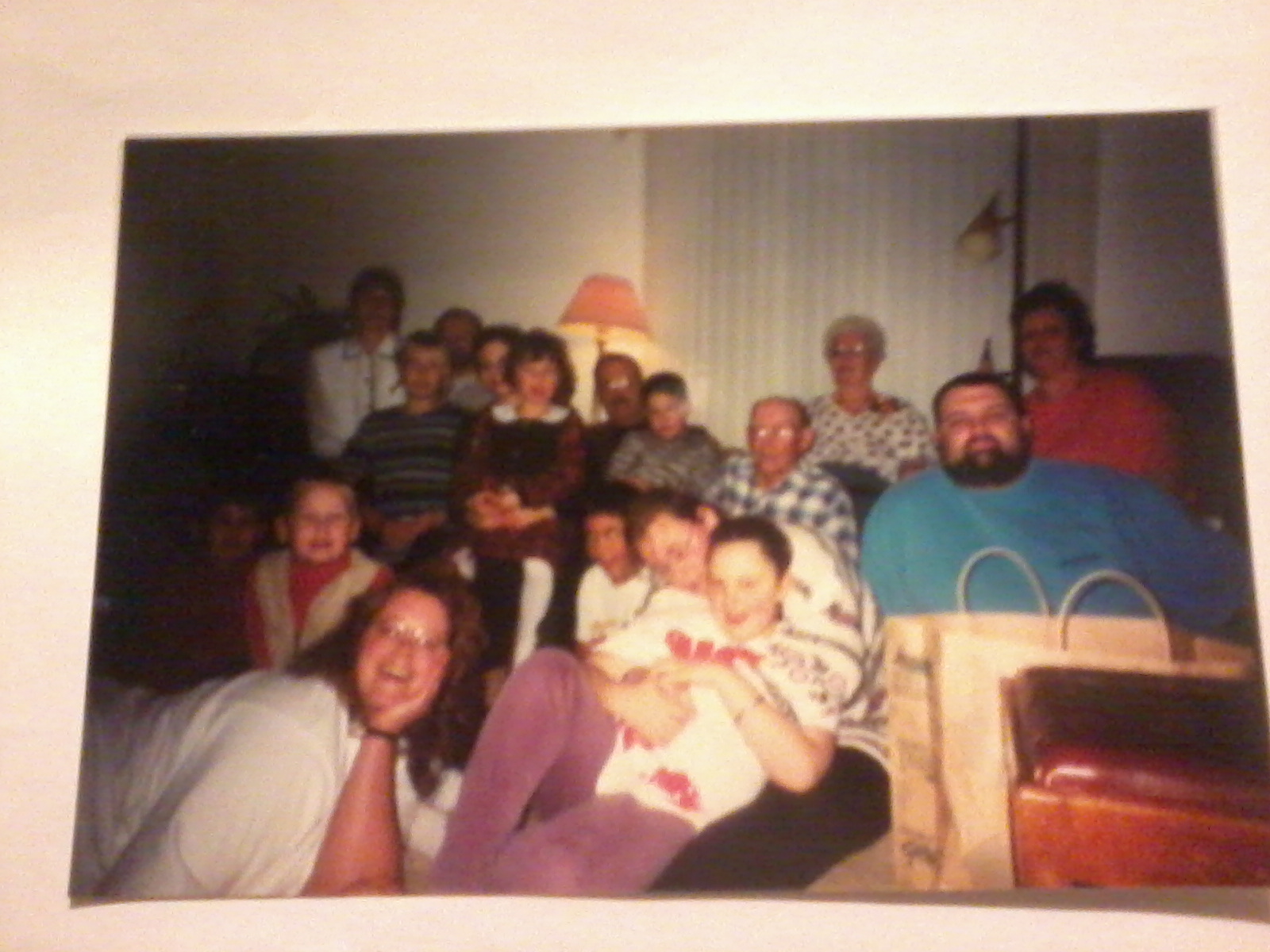 The family, together at my Grandpa's house, one Christmas years ago...