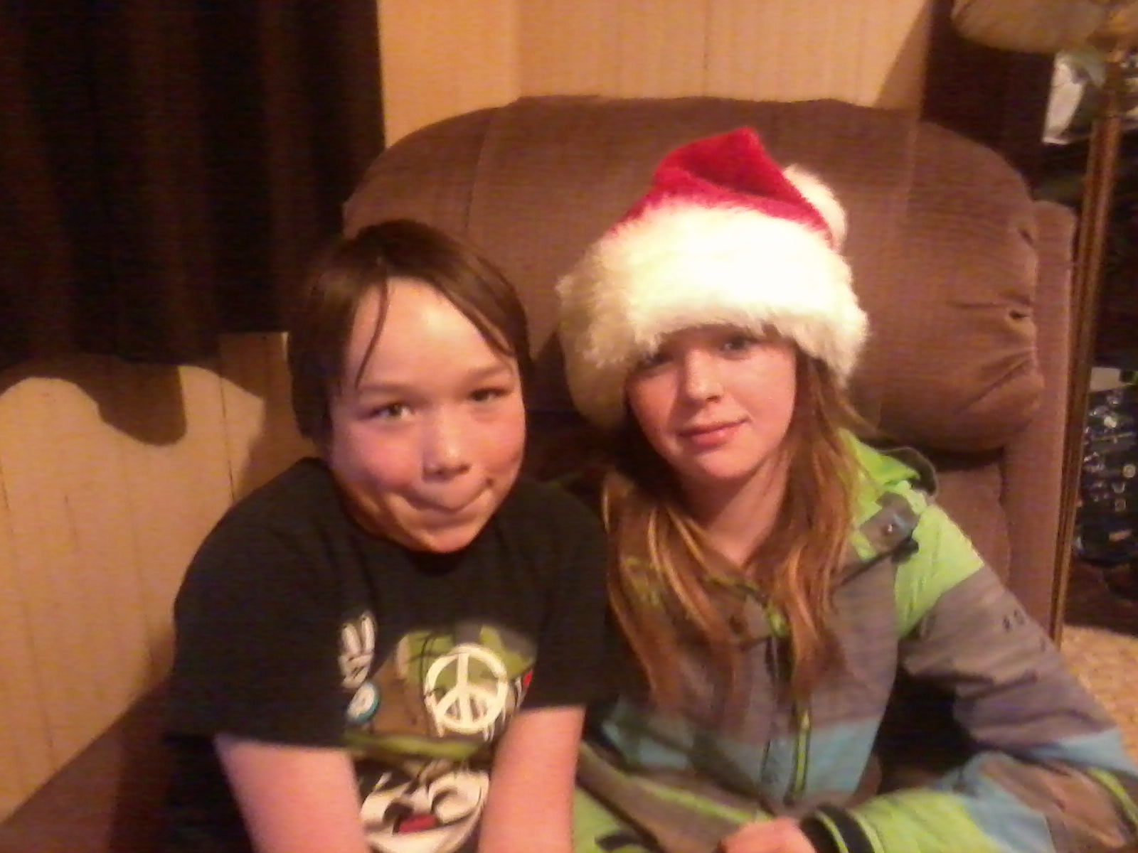Tara's children, Caleb and Trinity.