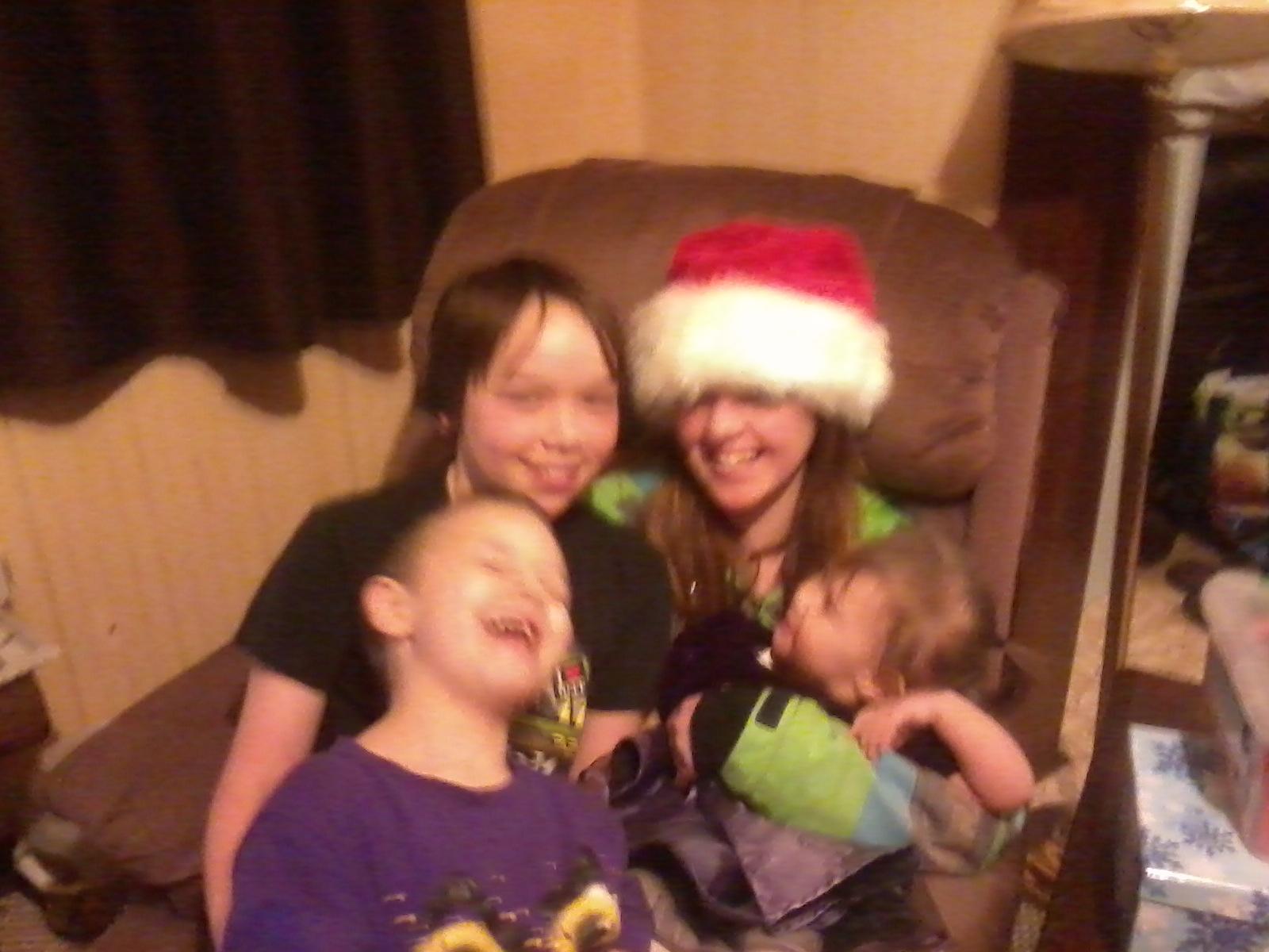 Caleb and Trinity with Ali and Sammi.