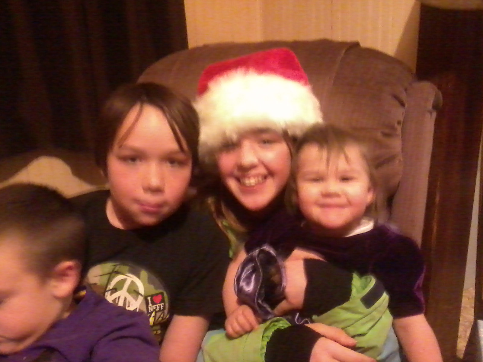 Caleb, Trinity, and baby Sammi.
