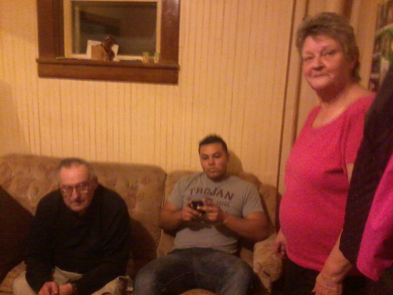 J with his Grandparents