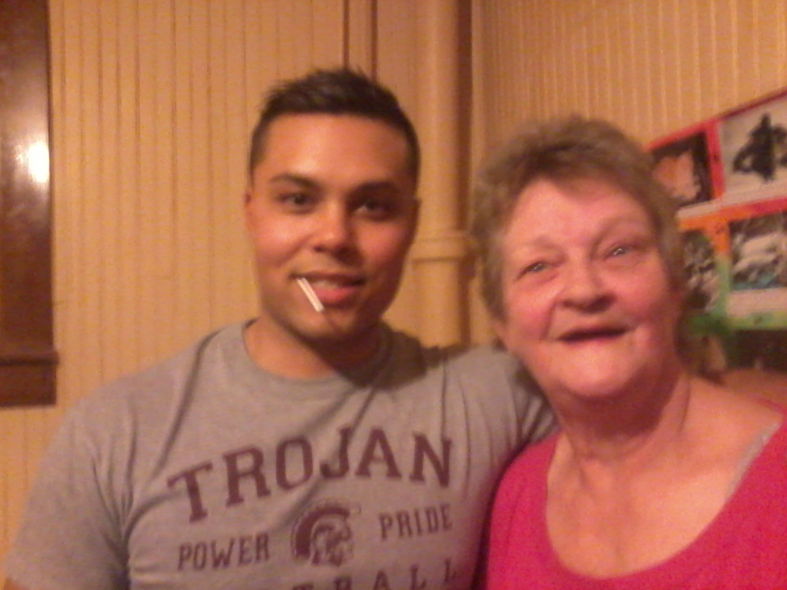 J, with my mom, Carol, his grandma.