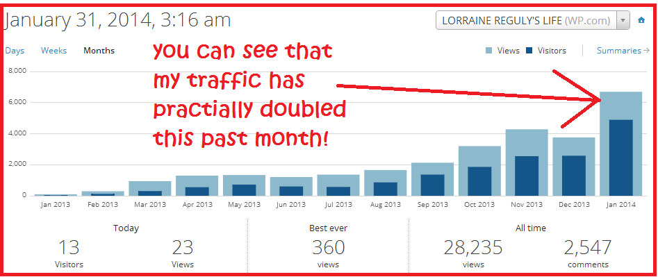 blog stats and visitor count