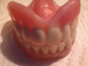 These are my false teeth. And I love them.