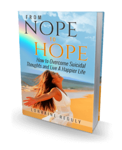 From NOPE to HOPE - 3D e-book cover with girl