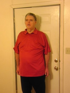 picture of blind man, Max Ivey, after he lost weight