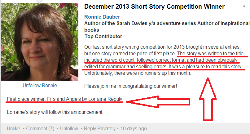 short story winner of december 2013 proofa