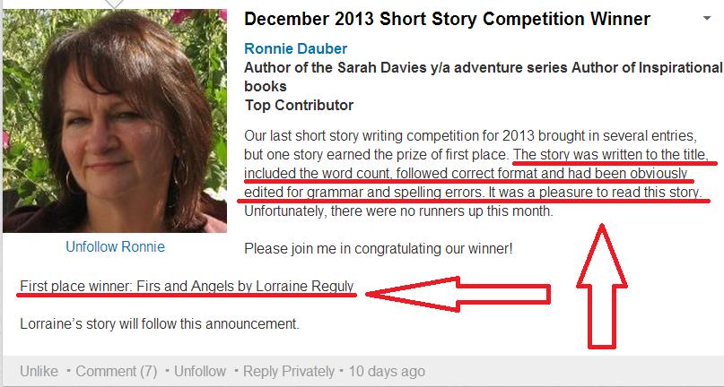 short story winner of december 2013 proofa