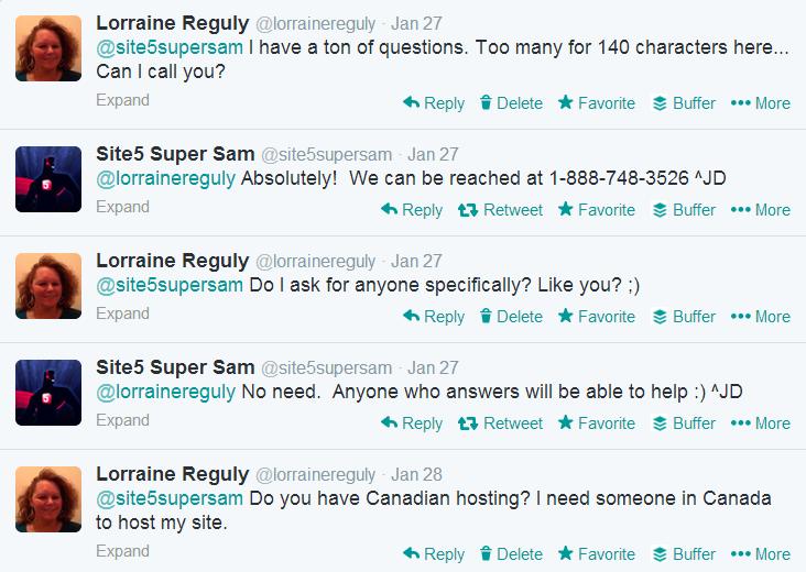 screenshot of Twitter conversation