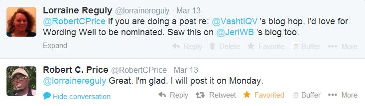 a screenshot of my conversation with Robert Price on Twitter