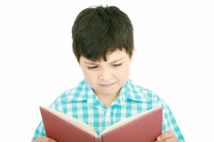 Small Boy Reading Book, easily