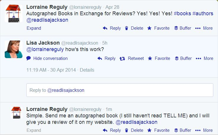 lisa jackson tweets on april 30