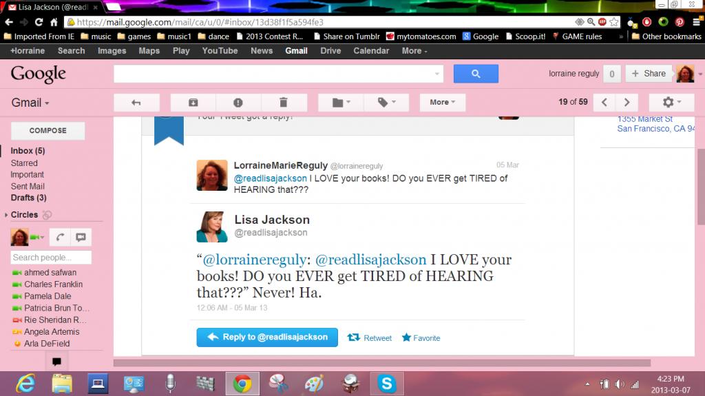 my tweet from lisa jackson
