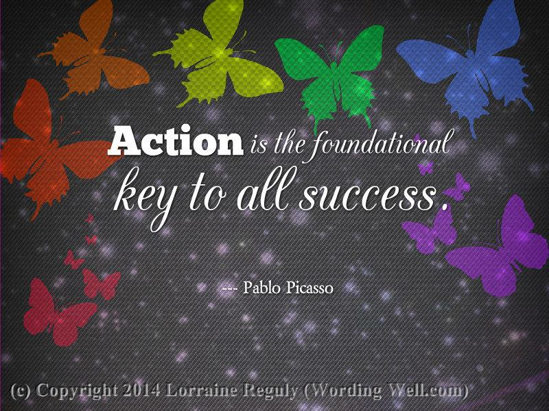 image that displays a quote about taking action
