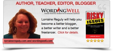 This is a digital business card for Lorraine Reguly.