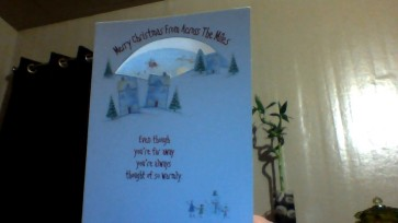 This is another picture of the card I received from Jo Ann Plante.