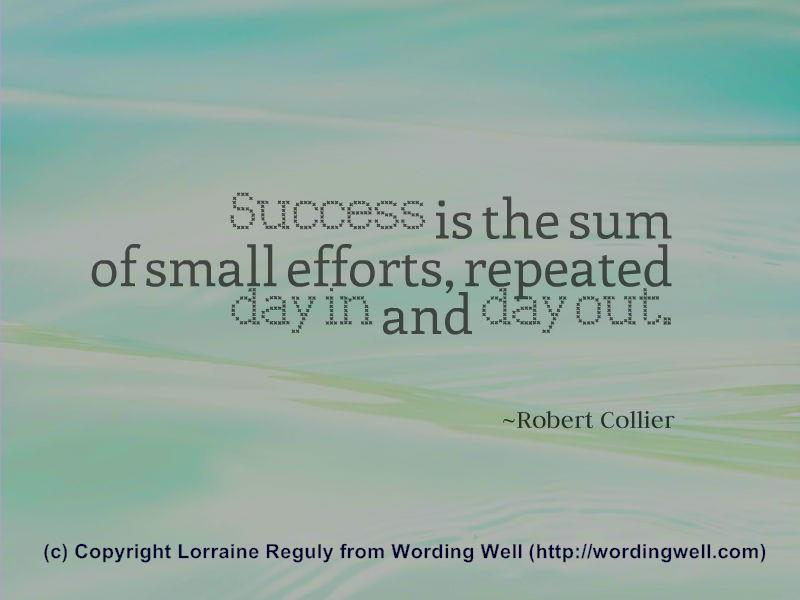 This image shows another quote about success.