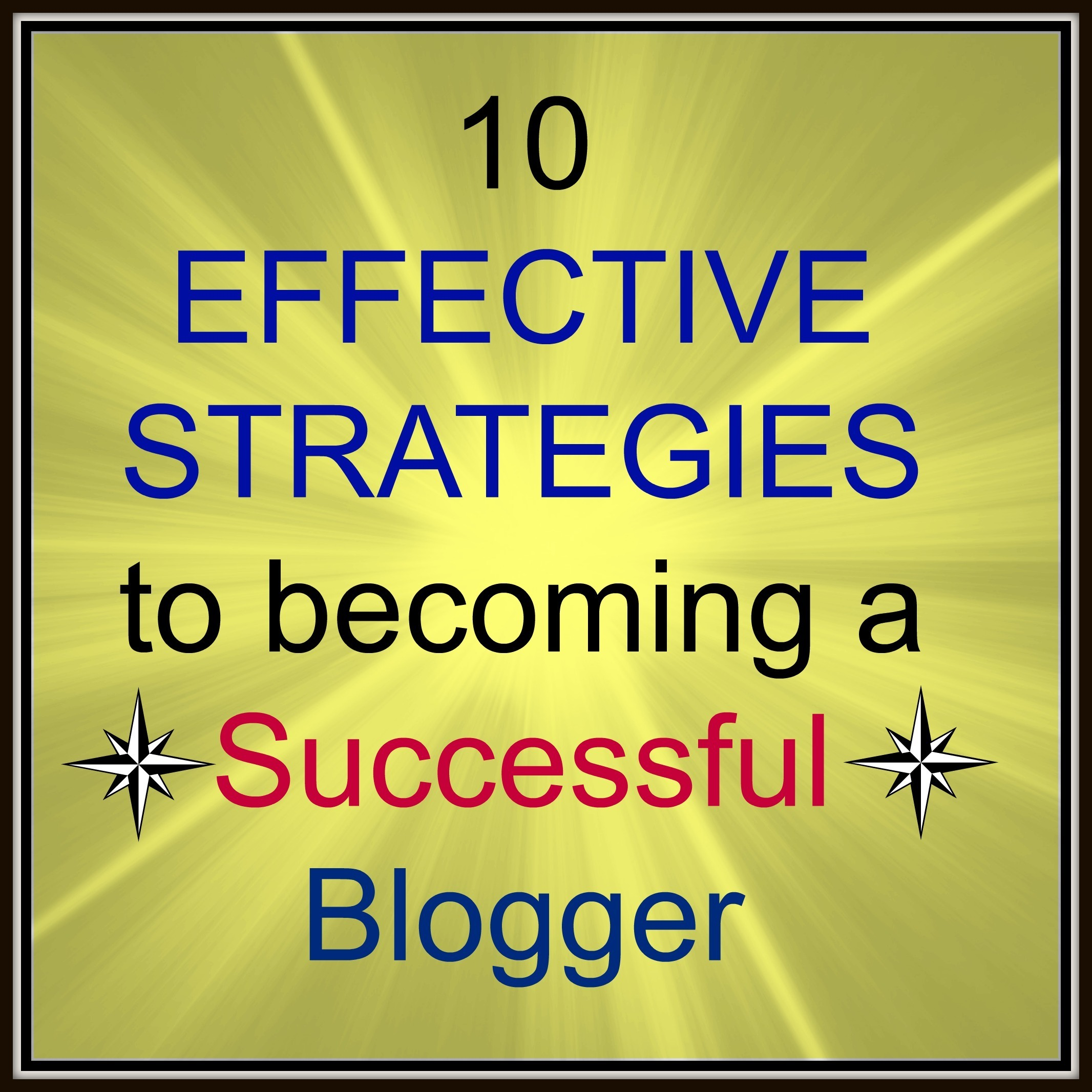 10 Effective Strategies to becoming a successful blogger