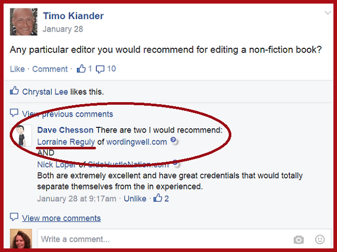 editing recommendation from Dave Chesson via Facebook