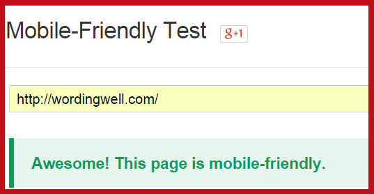 Wording Well is mobile friendly