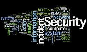 Security word collage