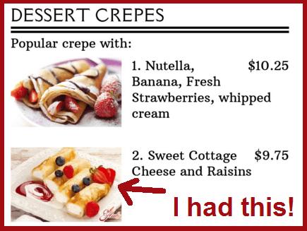 Crepes Club dessert