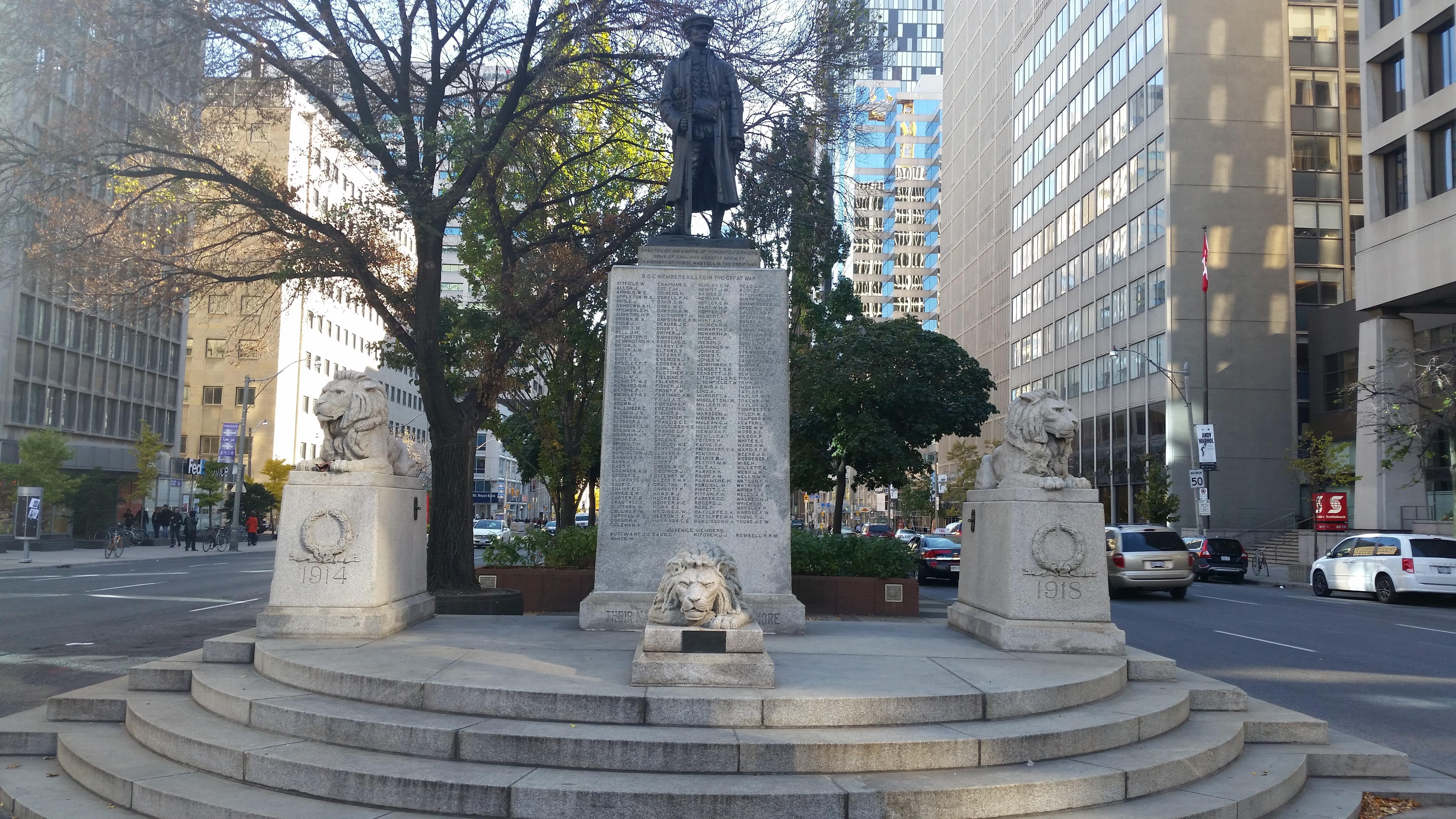 Statue on University Ave