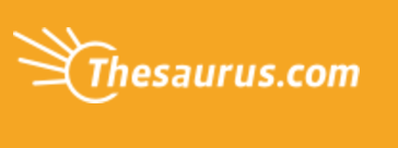 Thesaurus logo image to be used in the post 5 Sites to Use to Improve your Writing Skills