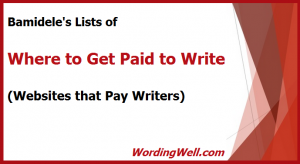image for blog post of lists of where to get paid to write