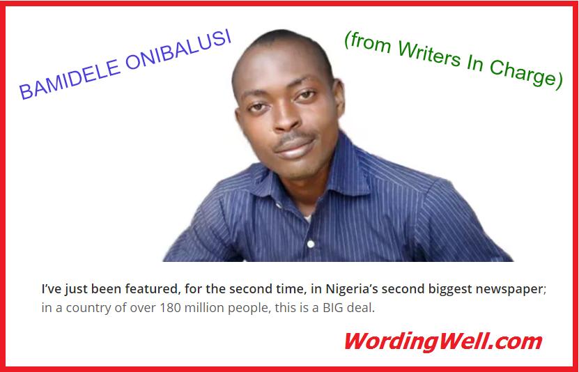 labelled photo of Nigerian Writer Bamidele Onibalusi.