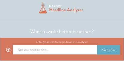 CoSchedule's Blog Post Headline Analyzer