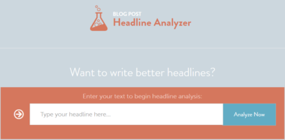 CoSchedule's Blog Post Headline Analyzer