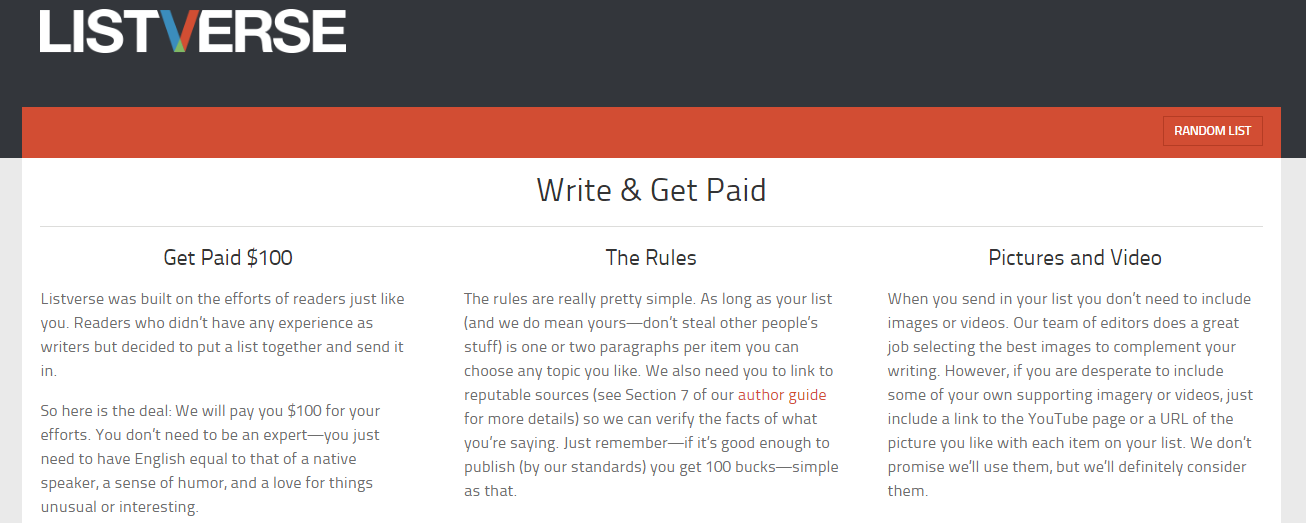 Listverse is just one place you can search for clients as a freelance writer