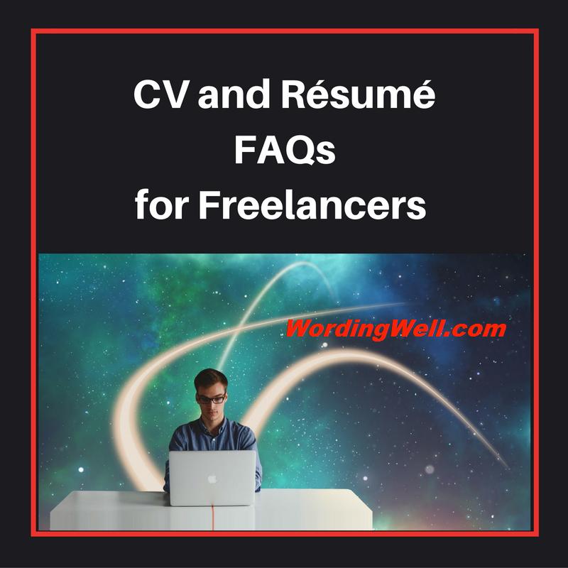 CV and Résumé FAQs for Freelancers