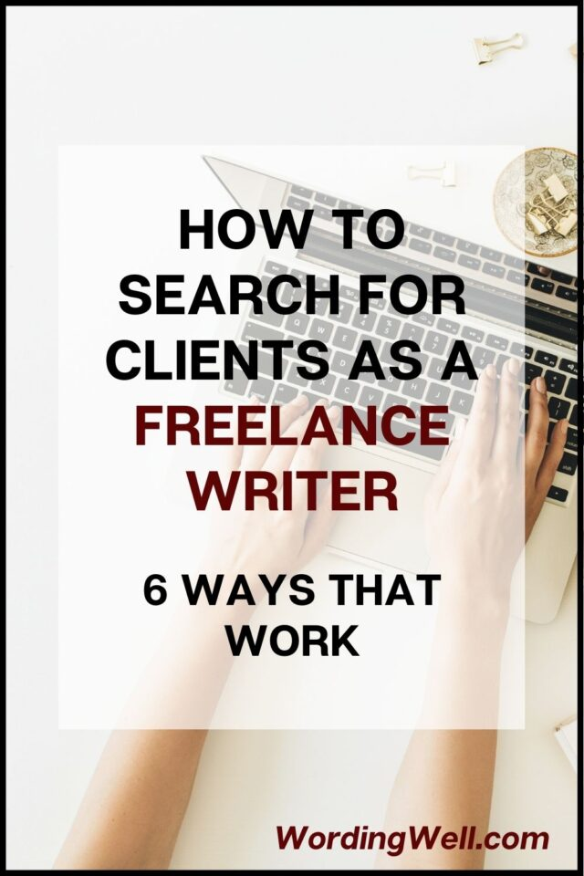 How to search for clients as a freelance writer
