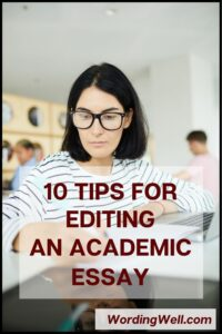 tips for editing an academic essay
