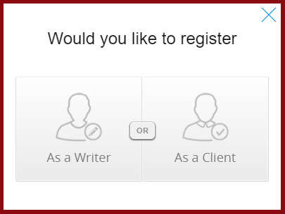 Register as a writer or a client at Contentmart