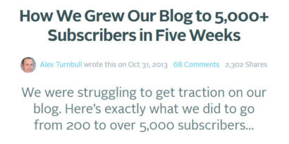How We Grew Our Blog to 5 000 Subscribers in Five Weeks