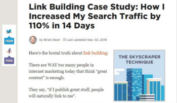 Link Building Case Study How I Increased My Search Traffic by 110 in 14 Days