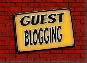 just words that say guest blogging